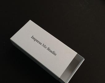 Slide in box - letterpress customized