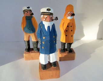 Vintage Sea Captains   and  Crew  1970'S   SET OF 3