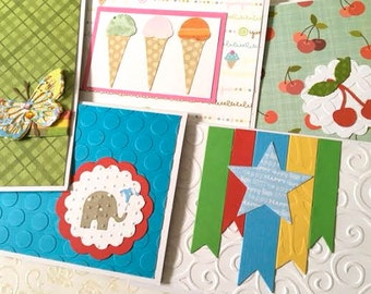 Birthday Cards - Birthday Card Set - Birthday Assortment - Card Assortment - Handmade Cards - Card Variety - Birthday Greetings - All Ages