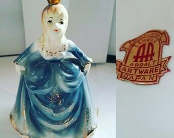 Vintage handpainted in Japan Ardalt Artware porcelain princess.