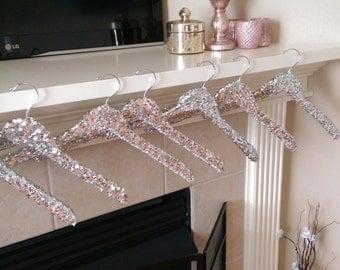 Sequin Hangers without clips, Sequins , Hangers, Wedding hanger, Bridal hanger,Brides maid hanger, Silver, Gold, Pink