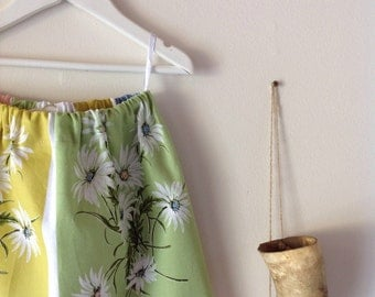 Children's Girls Summer Cotton Garden Skirt.Size 4 to 7.