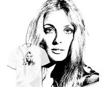 40% OFF Sale Sharon Tate Drawing T shirt