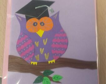 Graduation Owl Greeting Card
