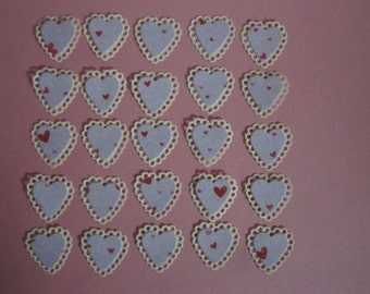 punched hearts 25 (doubles)