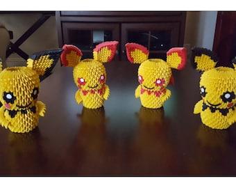 3D Origami Pokemon Pichu