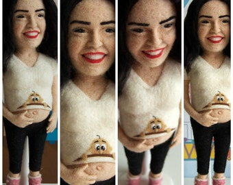 Needle Felted Custom Doll - 35 cm soft wool sculpture * free shipping