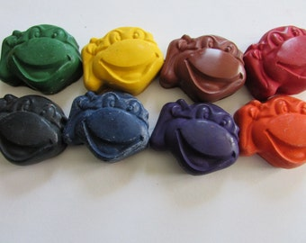TMNT  Crayon 8 pack-Recycled Crayons - TMNT - Party Favor - Kids - Coloring - Easter Basket - Stocking Stuffer
