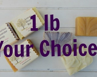 NATURAL HERBAL SOAP 1lb, 1 pound your choice- organic, handmade cold processed soap, and essential oils