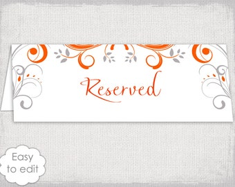 table reserved sign template free