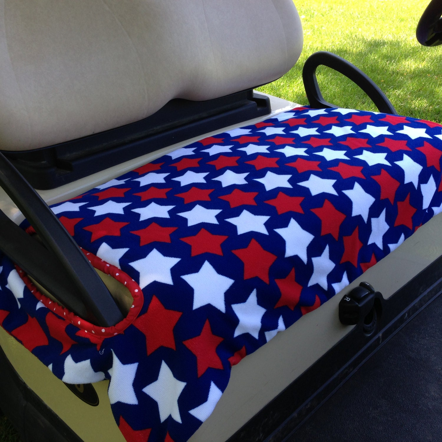 Star Power Terrry Cloth Golf Cart Seat Cover