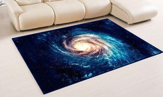 Grafik design blau blauer teppich teppich boden von vividview for Dekor weltraum