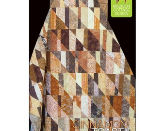 Pattern - Cinnamon Toast Quilt by Madison Cottage Design (MCD-CT124) Paper Pattern