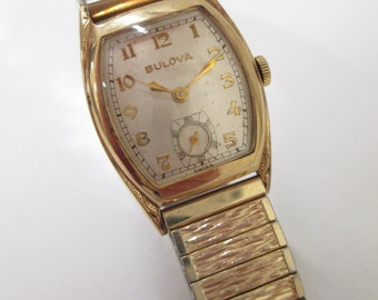 Wrist Watch; Bulova Wrist Watch, Men's Wrist Watch, Men's Bulova Wrist Watch, Vintage Wrist Watch, Men's Vintage Bulova Wrist Watch