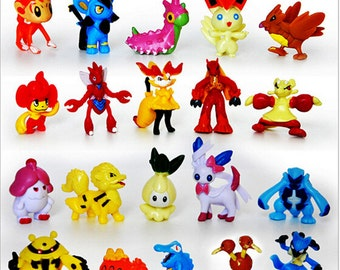 Pokemon Go 24pc Birthday Cake Topper Figurines Toy Set 1""
