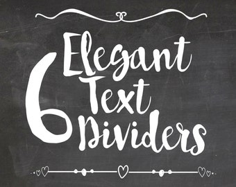 Text Dividers-6 Vintage Text Dividers Clip Art, Text dividers set, Vintage borders, borders, Clipart borders, Vintage Vintage text divider