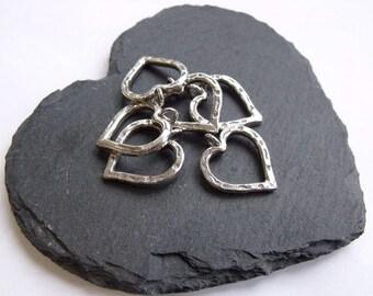 Thai Silver Heart Charm/Pendant - 24mm
