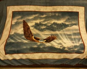 Eagle Panel Fleece Throw