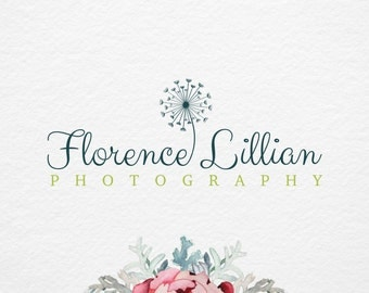 Premade logo , Photography logo and Watermark - Beautiful dandelion