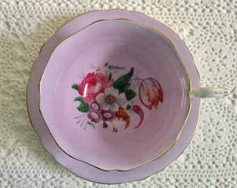 Mauve Paragon China Tea Cup and Saucer Teacup Set