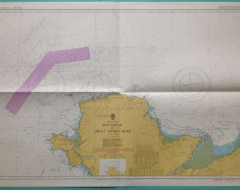 Vintage Nautical Map - Holyhead to Great Ormes Head