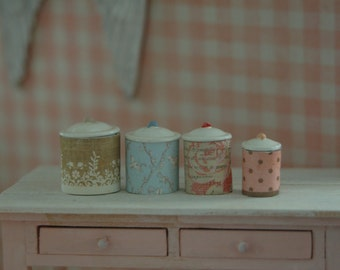 Miniature Shabby Canister Set