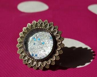 Silver Galaxy Adjustable Ring