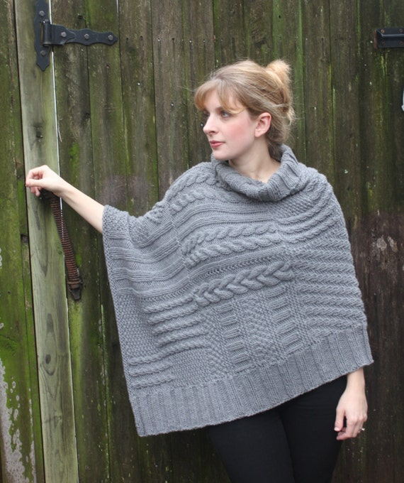 Free Knitting Pattern Chunky Cape : ReLuxe Wrap Pattern knit wrap poncho shawl using chunky