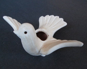 DOVE CANDLE HOLDER-hand made pottery
