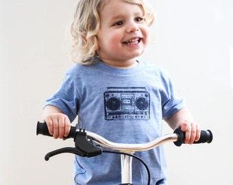kids BOOM BOX printed shirt