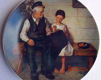 The Lighthouse Keeper's Daughter Plate - Norman Rockwell - Heritage Collection