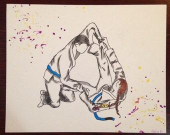 Custom Jiu Jitsu Painting
