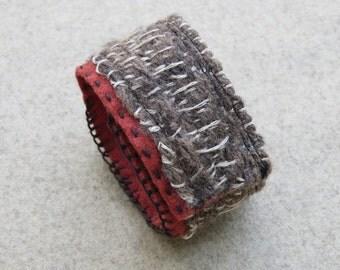Handwoven Fiber Cuff Bracelet