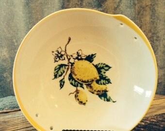 Vintage Topline Imports of Japan Ceramic Bowl with Lemon Motif