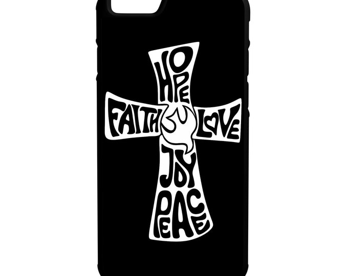 Faith Hope Love Joy Peace iPhone Galaxy Note LG HTC Hybrid Rubber Protective Case