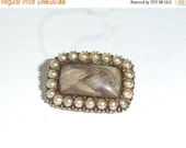 SPRING SALE 25% OFF Antique Georgian 18ct Gold And Pearl Veil Pin Sentimental