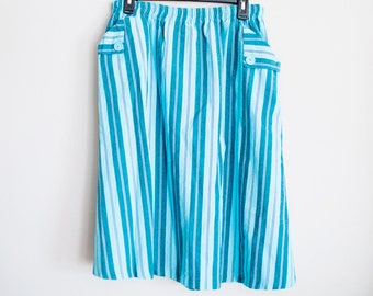 Blue Striped Skirt, Large