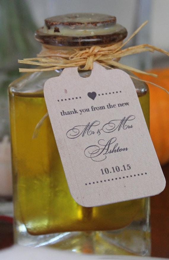 Diy Wedding Favor Tags : Personalized DIY Wedding Favor TagsShabby ChicFarmhouseKraft ...