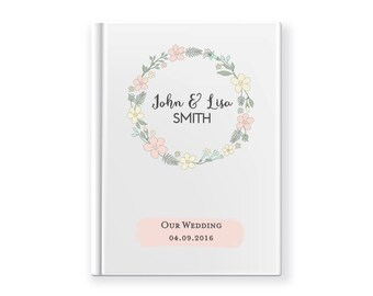 Wedding Guest book | Engagement Party | Custom Made White Gloss A4 or A5 | Journal Album