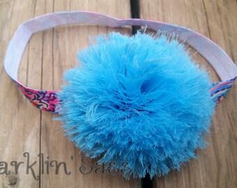 CLEARANCE SALE! Girls Headband, Baby Girl Headband, Toddler Headband, Turquoise Flower Headband, Birthday Headband, Girls Hair Flower