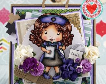 Purple Nurse Ouch Card