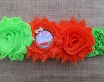 Carrot Headband, Shabby Headband, Baby Girl Headband, Baby Hair Accessory, Easter Headband, Baby Headband, Orange Headband, Infant Headband