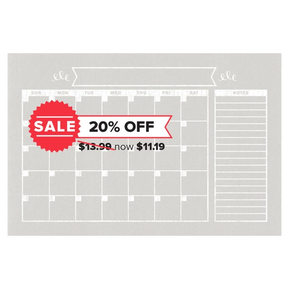 Blank Horizontal Calendar : Calendar horizontal family planner wall blank