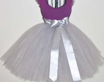 Gray Tutu Skirt Adult Bridesmaid Silver