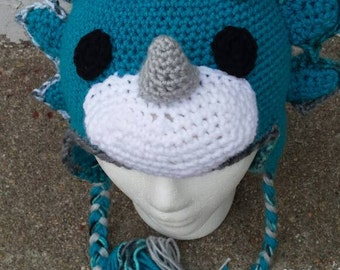 Crochet Triceratops Beanie 6 months to Adult