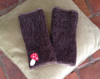 Moms very warm gloves without fingers in double face wool