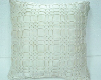 Accent Satin cushion with a Smocking effect