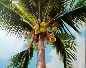 """20x24 original oil on canvas """" Up into the palm""""...beautiful!!"""