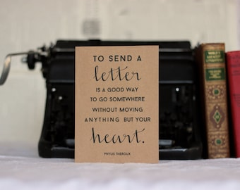 Letters Move Your Heart : Brown Kraft Friendship Card