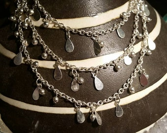 Sterling Bohemian Gypsy Necklace. ..